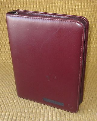 Classic 1.5 Rings Burgundy Sim. Leather Franklin Covey Plannerbinder Usa