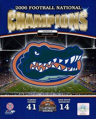 - 2006 Florida Gators Champions BCS Bowl Football Licensed Glossy 8x10 Photo A
