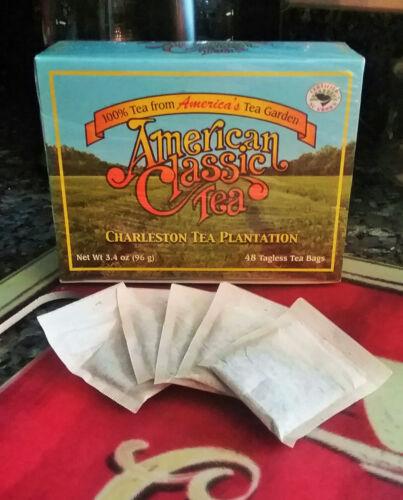 American Classic Tea Charleston Tea Plantation Box of 48 Tagless Tea Bags NEW
