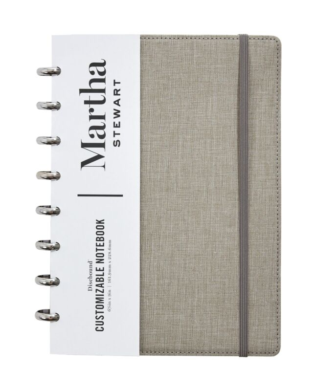 Martha Stewart Linen Junior Discbound Notebook MS102E