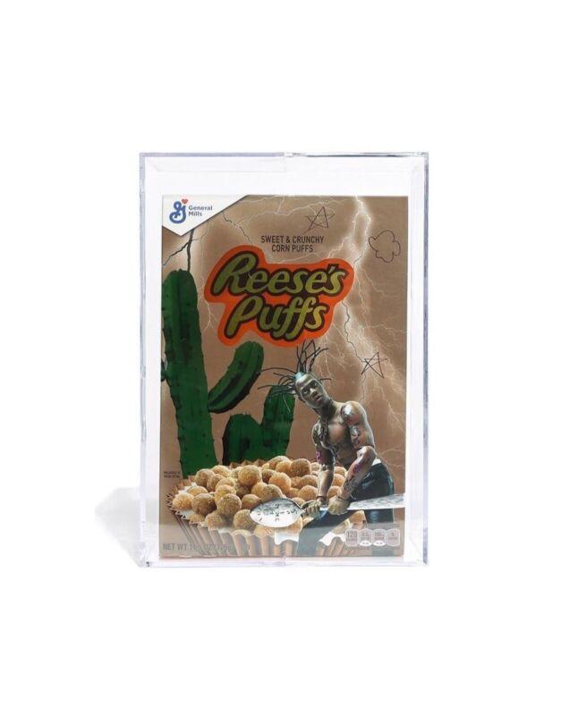 Travis Scott/Resse's Puff Cereal Box w  Acrylic Case