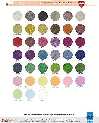 Heat Transfer Vinyl Siser Glitter 20 X 1 Yard Neon Colors And White