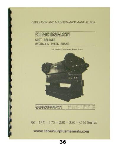 Cincinnati Hyd Press Brake 90-135-175-230-350 CB Series Op & Maint Manual #36