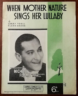 When Mother Nature Sings Her Lullaby by Larry Yoell & Glenn Brown – Pub. 1938