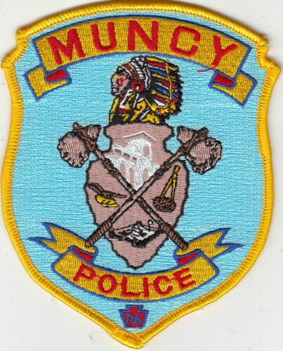 MUNCY (INDIAN) POLICE PATCH PENNSYLVANIA PA