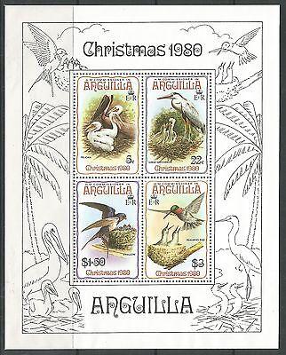 ANGUILLA. 1980. Christmas Birds Miniature Sheet. SG: MS420. Mint Never Hinged.