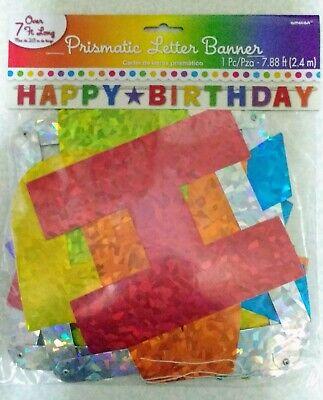 Party City Happy Birthday Banner Rainbow Letters - Party City Happy Birthday Banner