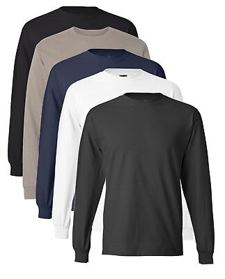Heavyweight Long Sleeve Tee (Hanes Heavyweight Cotton Long Sleeve Beefy T T-Shirt Tee with Cuffs)