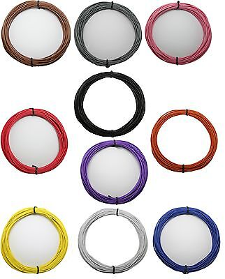 1x Random Color 20AWG 3M Cable Stranded Flexible Hookup Wire  Electric #386