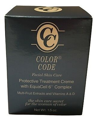 Color Code Facial Skin Care Protective Treatment Cream for Women of Color,1.5 oz