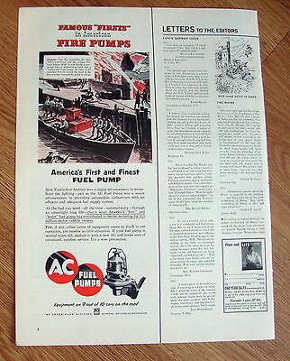 1954 AC Ad Fireboat   Fire Pump Firefighting