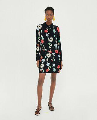 ZARA BEAUTIFUL FLORAL DRESS M MASSIMO DUTTI