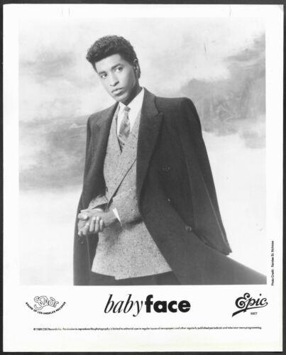 ~ Babyface Original 1991 Epic Records Promo Portrait Photo Soul R&B