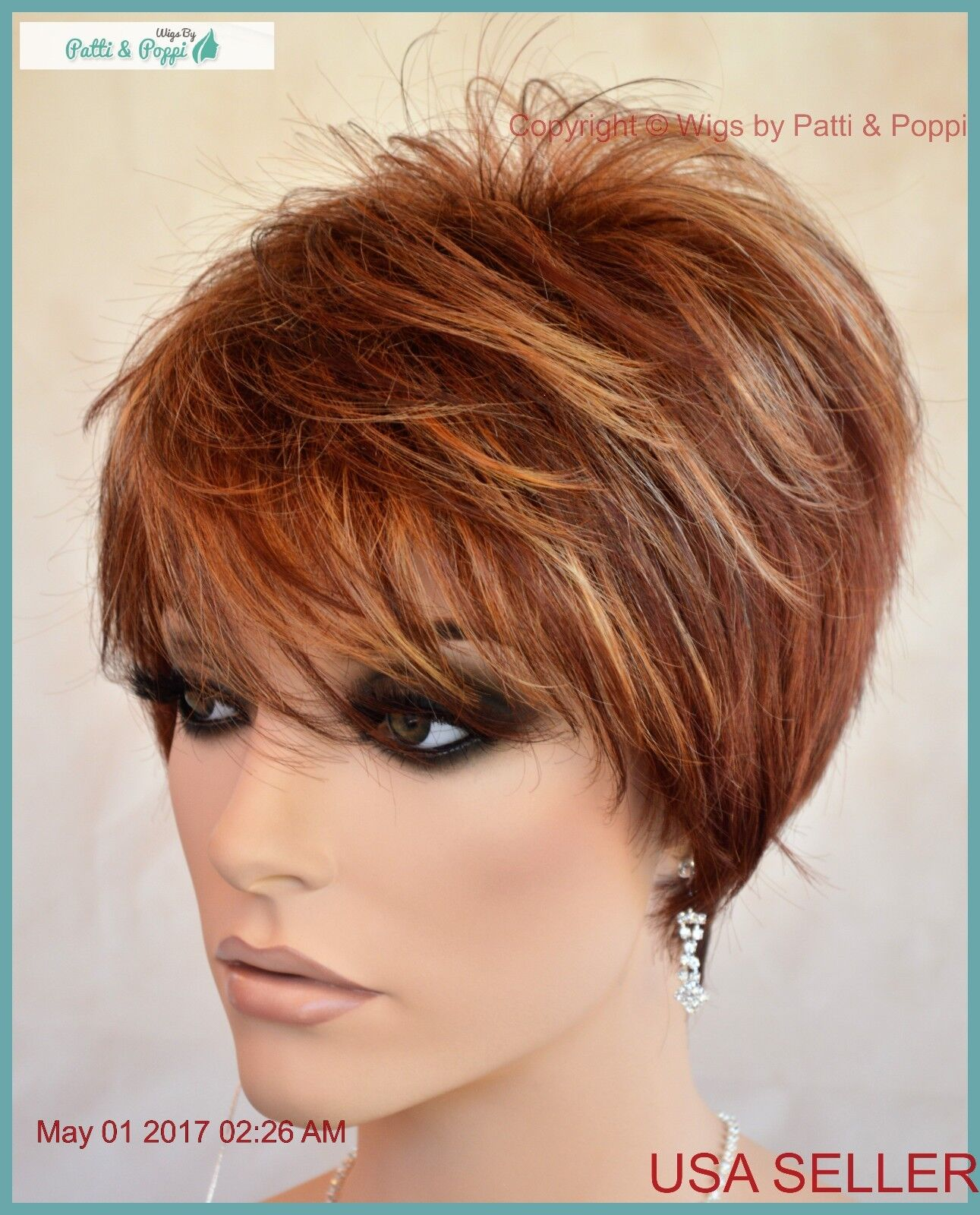 Synthetic Short Hair Wig For Women Color Flame Cute Style 1188 Ebay