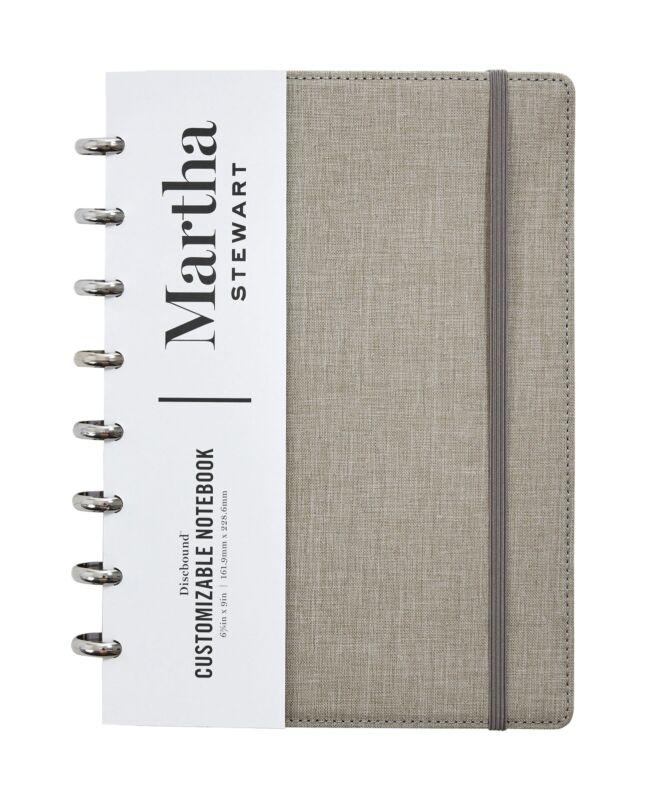 Martha Stewart Linen Junior Discbound Notebook MS102E
