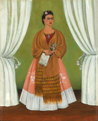Print -   Self-Portrait Dedicated to Leon Trotsky, 1937 - by Frida Kahlo