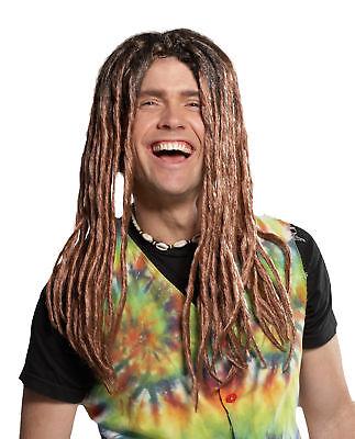 Dreadlock Blonde Brown Adult Wig Hair Long Bob Marley Halloween