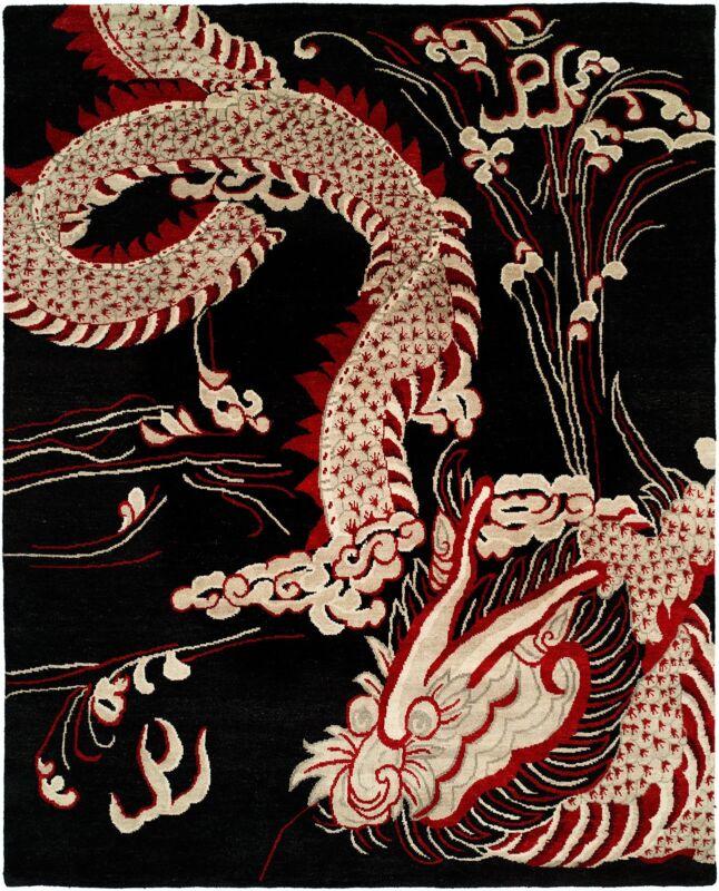 Intricate Indian - Dragon Design Rug - Modern Contemporary Carpet - 6 X 9 Ft.