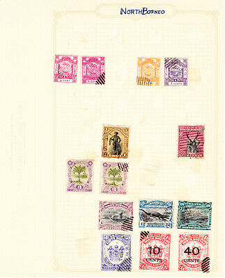 Album Page of Early North Borneo QV Stamps #AP91