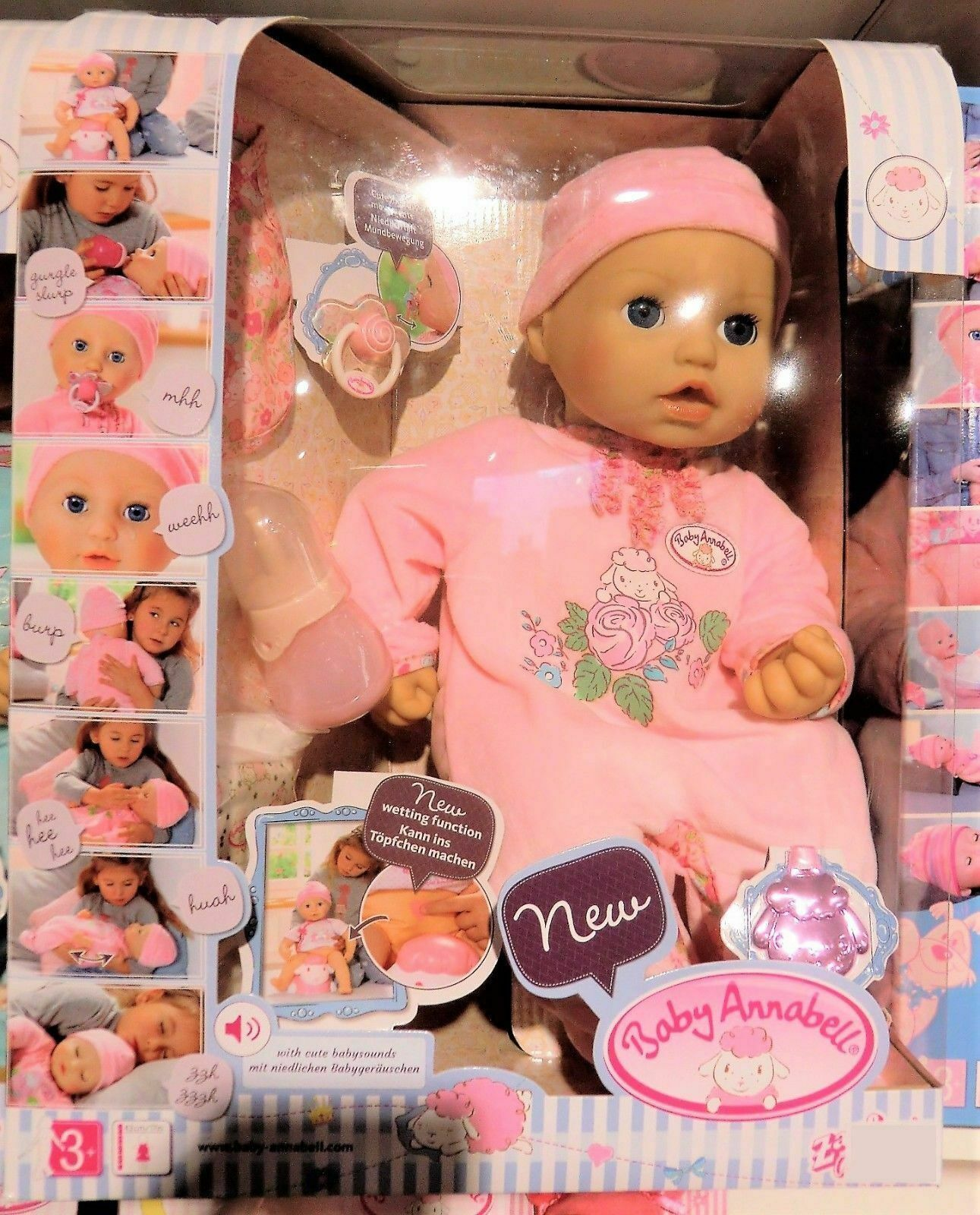 Zapf Creation 794401 - Baby Annabell - mit lebensechten Funktionen - NEU und OVP