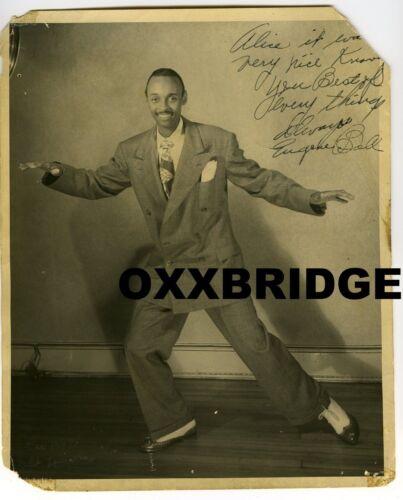 GENE BELL SIGNED PHOTO Tap Dancer Black Vaudeville Minstrel Man 1935 Theater