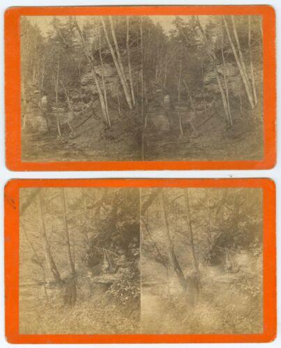 G0101* Tioga Co. PA -7 Stereoviews –Newton Mack Gettysburg Veteran, Wellsboro PA