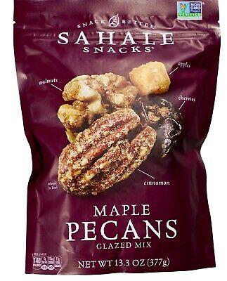 Sahale Snacks Maple Pecans Walnuts Apples Cherries Glazed Trail Mix, 13.3 Ounce