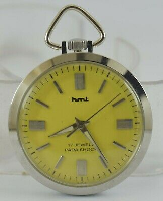 Vintage HMT 17Jewels Winding Pocket Watch For Unisex Use Working Good D-260-20