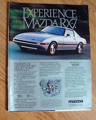 1984 Mazda RX-7 S Sports Car Ad