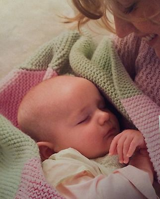 Snuggly Baby Blanket Beginners Easy Knitting Pattern for sale  Cannock