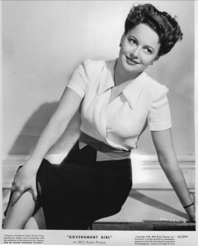 "ORIGINAL PUBLICITY PHOTO FOR THE 1943 MOVIE ""GOVERNMENT GIRL"""