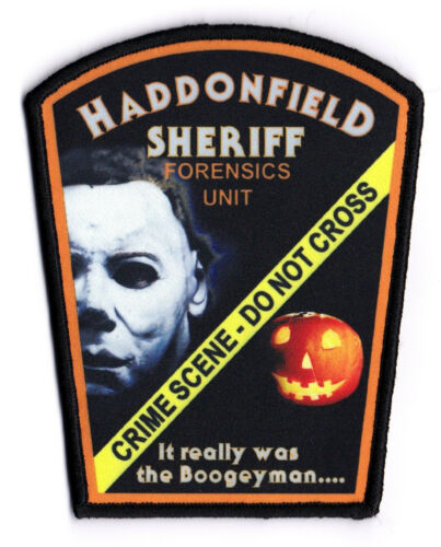 AWESOME NEW STYLE HADDONFIELD SHERIFF IL ILLINOIS HALLOWEEN MICHAEL MYERS