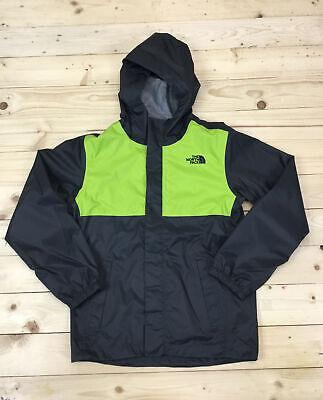 Boy's The North Face James Shell Rain Jacket Size Medium 10 / 12 Grey Green