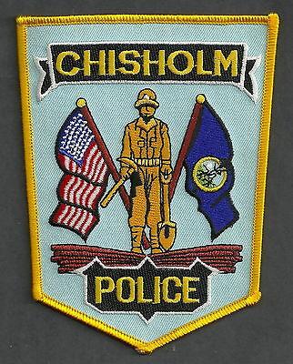 CHISHOLM MINNESOTA POLICE PATCH