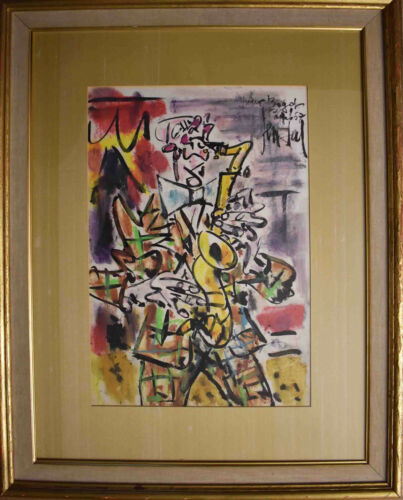 Listed French Artist Gen Paul, Original Pastel, Ink On Paper Signed, Painting