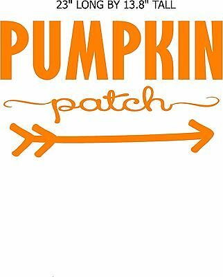 Pumpkin Patch vinyl lettering crafts fall art projects decal, stencil