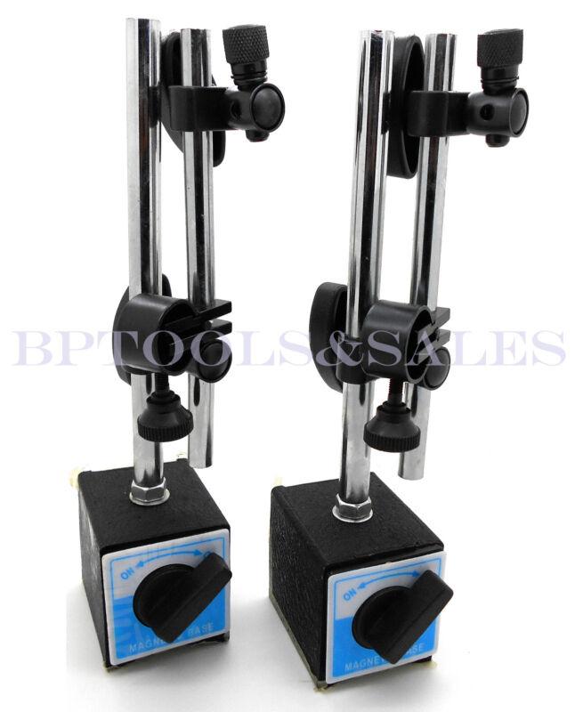 (2) Magnetic Base Fine Adjustment Holder for Dial Test Indicator 132lbs Force