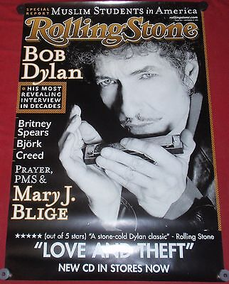 Bob Dylan Rolling Stone Cover Original Rolled Poster 24x36 NEW Music Promo