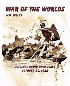 WAR OF THE WORLDS, Orson Welles 1938 Original Radio Broadcast Audio CD