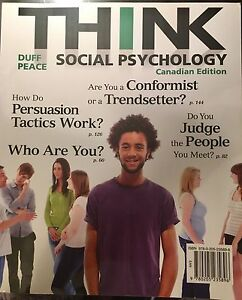 THINK Social Psychology Canadian Edition Duff Peace