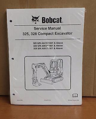 Bobcat 325 328 Compact Excavator Service Manual Shop Repair Book 6986940