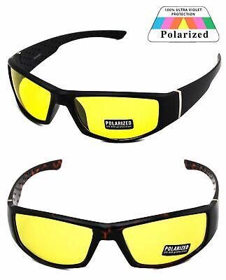 Driving Glasses HD Aviator Sunglasses Driver Night Vision Yellow POLARIZED Lens (Yellow Polarized Glasses)