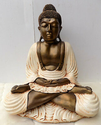 Buddha resin coloured 40x20x49h white gold shiva Buddha Ganesh divinity 1