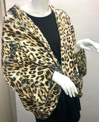 Missy Überwurf/Jacke/Poncho mit Strasssteinen Tiger-Muster ..One Size Top Design (Jacken Mit Strass-steinen)