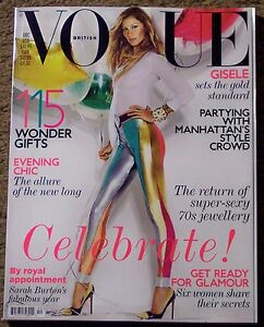 BRITISH VOGUE Sexy GISELE BUNDCHEN December 2011 MANHATTAN'S Style CROWD New Mag