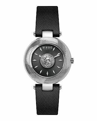 BRAND NEW VERSACE VERSUS VSP213718 BRICK LANE BLACK LEATHER WOMEN'S WATCH