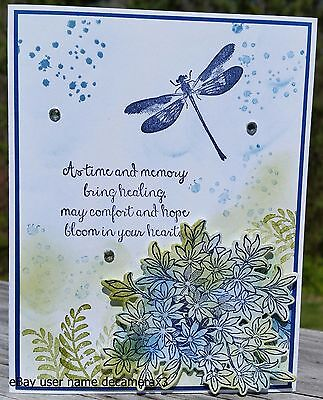 SYMPATHY CARD KIT, STAMPIN' UP, AWESOMELY ARTISTIC, HANDMADE, DRAGONFLY, FLOWER