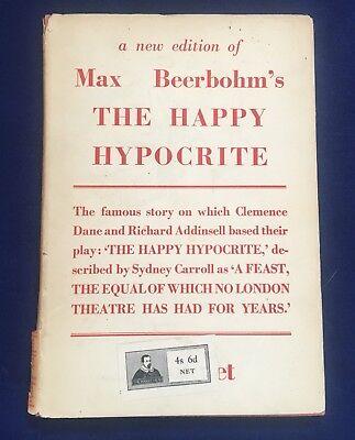 """Max Beerbohm """"The Happy Hypocrite"""" Book (1946)"""