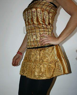 Vestido sexy noche fiesta talla S M mini falda ibicenco ibiza boho dress pin up