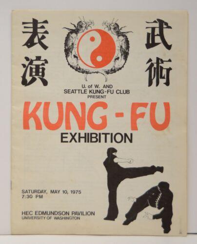 1975 Seattle KUNG-FU CLUB Exhibition Program Martial Arts UW Post Bruce Lee Vtg